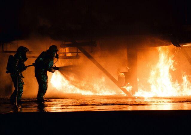 حريق داخل طائرة
