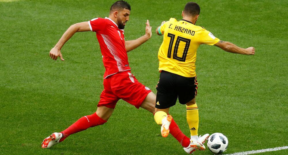 مباراة تونس وبلجيكا في إطار كأس العالم