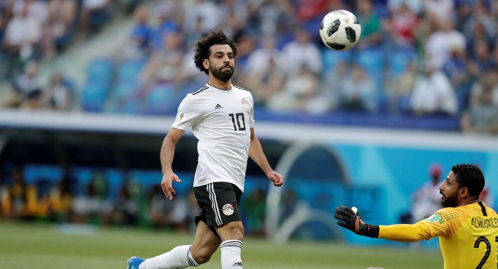 محمد صلاح مباراة مصر والسعودية