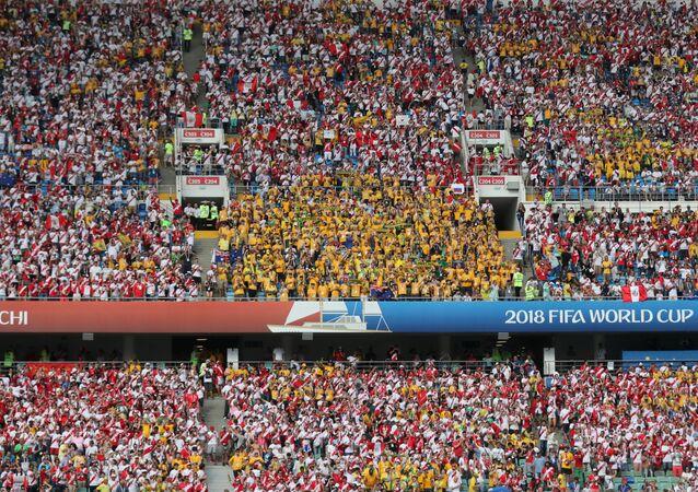 جماهير مباراة أستراليا وبيرو