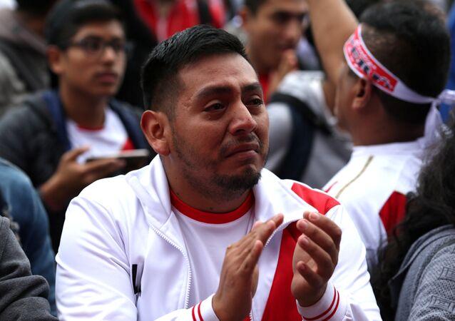 مشجع استرالي في مباراة بيرو