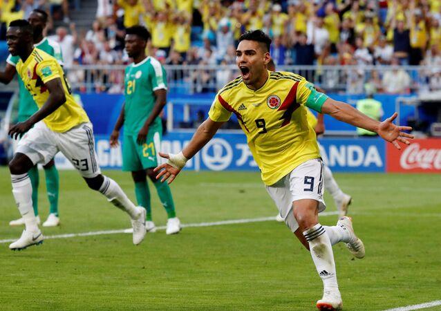 الهدف الأول لكولومبيا في مباراة السنغال