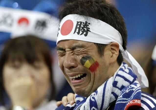 مشجعون يابانيون - مباراة اليابان و بلجيكا - ملعب روستوف أرينا - روستوف على الدون (روستوف نا دونو) - كأس العالم 2018 - روسيا، 2 يوليو/ تموز 2018