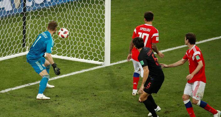 الهدف الثاني للمنتخب الكرواتي في مباراة روسيا