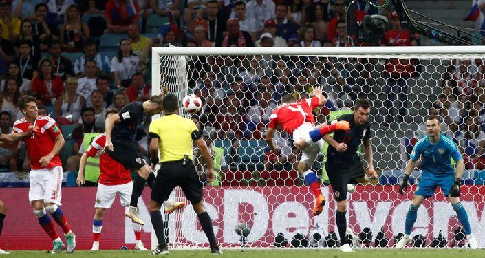 مباراة روسيا وكرواتيا