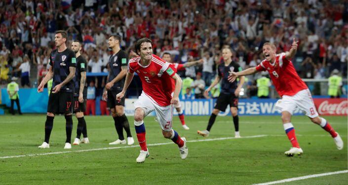روسيا تتعادل في مباراة كرواتيا