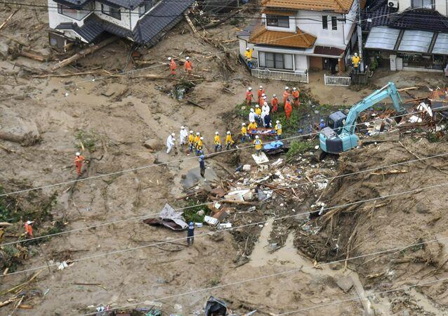 أمطار غزيرة في اليابان