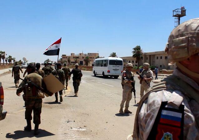 الجيش السوري عند مداخل درعا