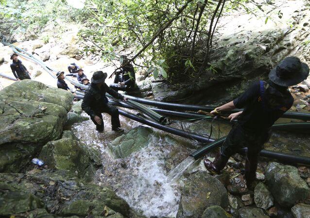 عمليات البحث والإنقاذ، الأطفال العالقين في الكهف، أطفال الكهف، تايلاند 7 يوليو/ تموز 2018