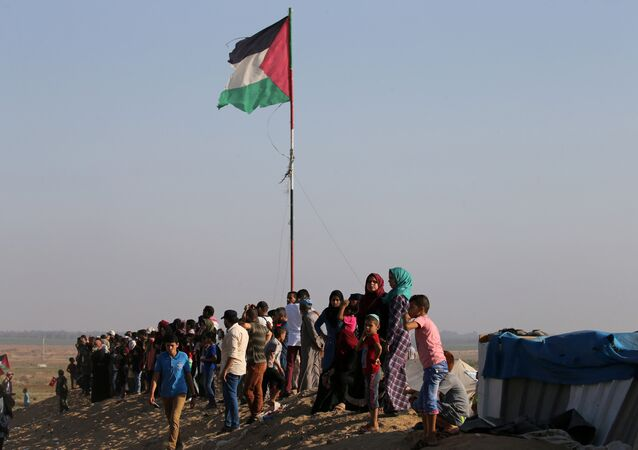 احتجاجات في قطاع غزة، فلسطين 6 يوليو/ تموز 2018