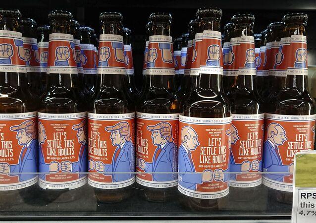 بيرة بمناسبة الاجتماع المرتقب بين بوتين وترامب