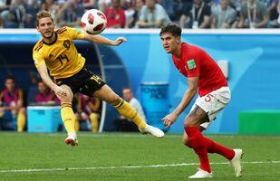 مباراة بلجيكا وإنجلترا في كأس العالم