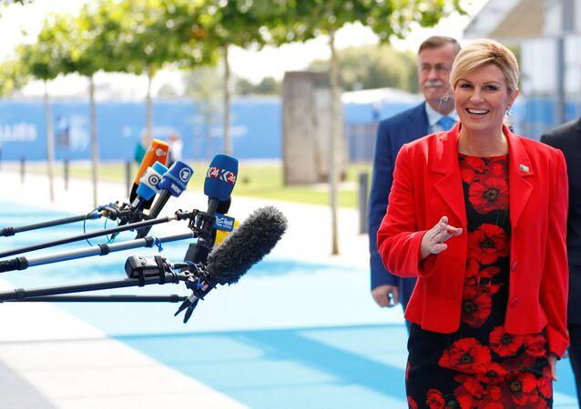 رئيسة كرواتيا كوليندا كيتاروفيتش