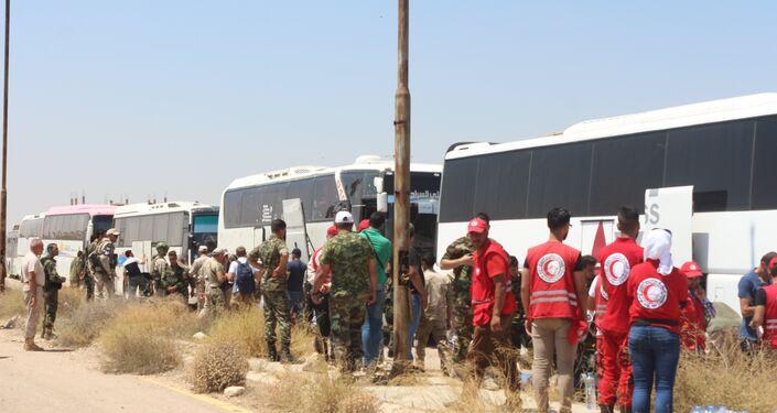ترحيل إرهابيين من درعا إلى الشمال السوري