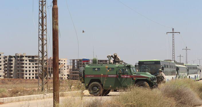 الشرطة الروسية ترعى اتفاق خروج المسلحين من درعا إلى الشمال السوري