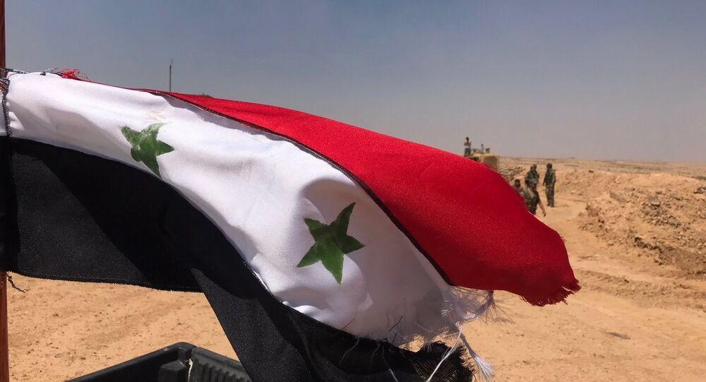 الجيش السوري على الحدود الأردنية في محافظة درعا