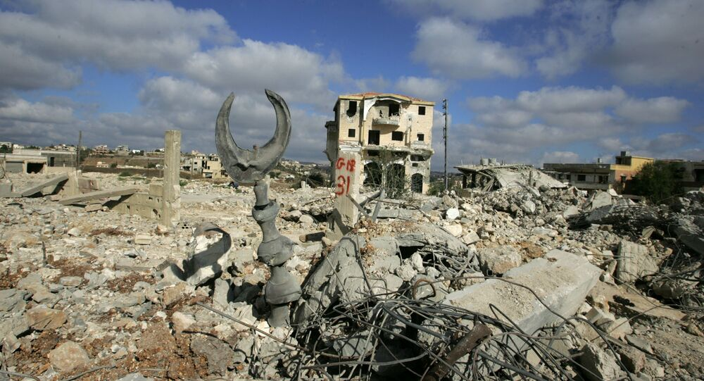 مدينة بنت جبيل في جنوب لبنان خلال حرب تموز