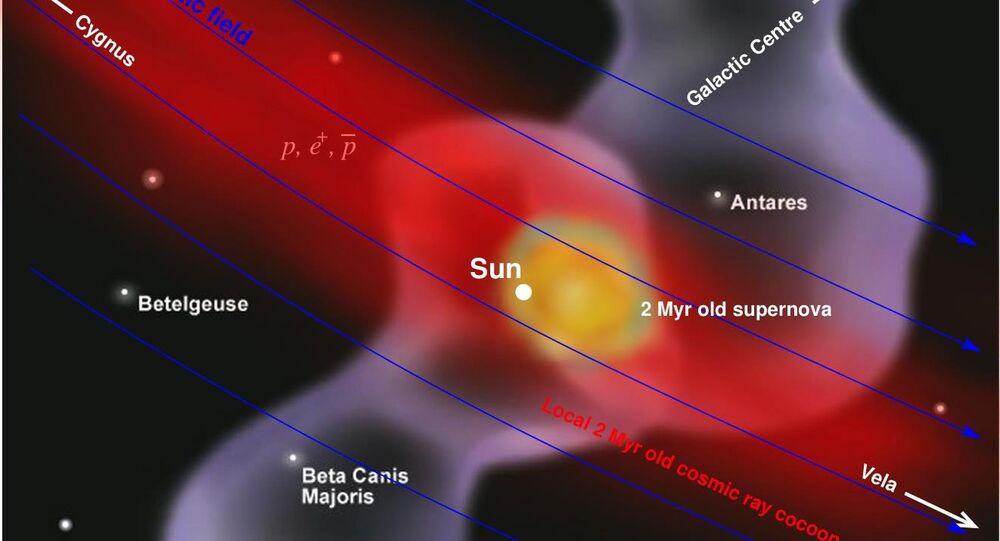 آثار انفجار مستعر أعظم بالقرب من النظام الشمسي