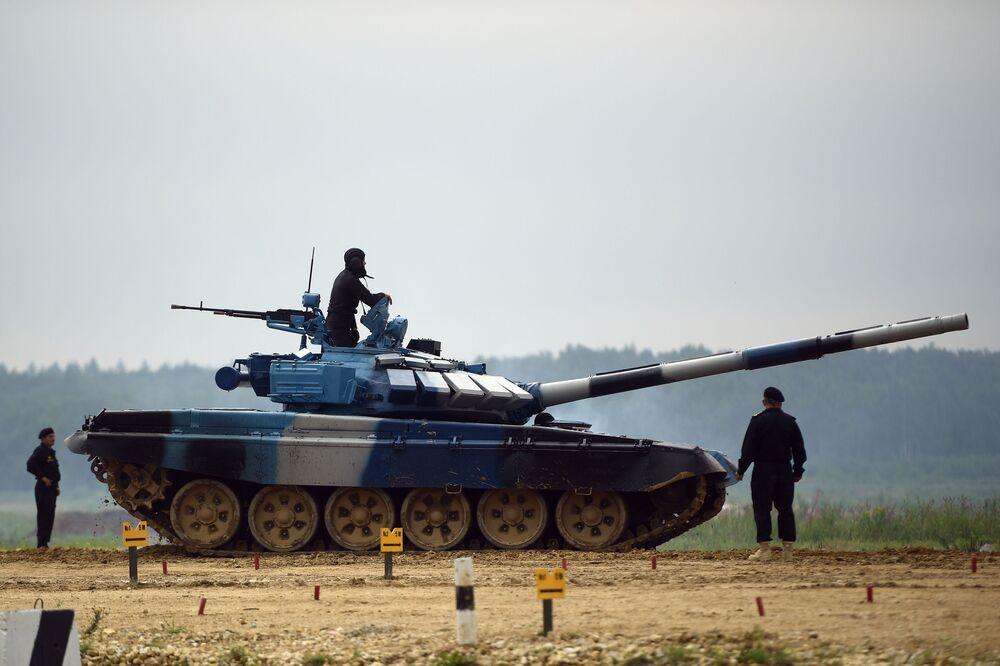 مسابقة بياتلون الدبابات - 2018 في الحقل العسكري كوبينكا بضواحي موسكو، روسيا