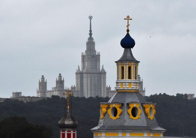 مشهد يطل على مدينة موسكو - جامعة موسكو الحكومية