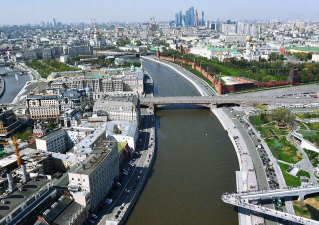 مشهد يطل على مدينة موسكو - الكرمين، نهر موسكو