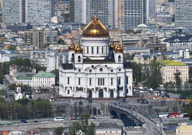 مشهد يطل على مدينة موسكو - كنيسة المسيح المخلص
