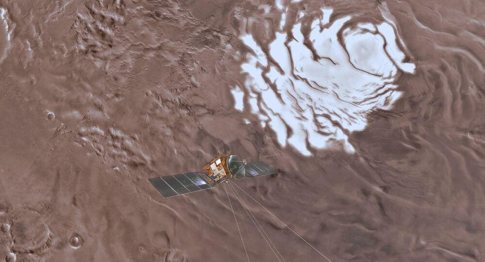 مستودع للمياه في المريخ