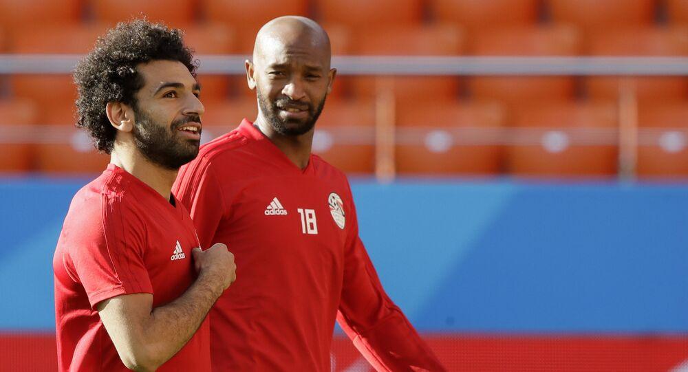 شيكابالا مع محمد صلاح في بطولة كأس العالم 2018 في روسيا