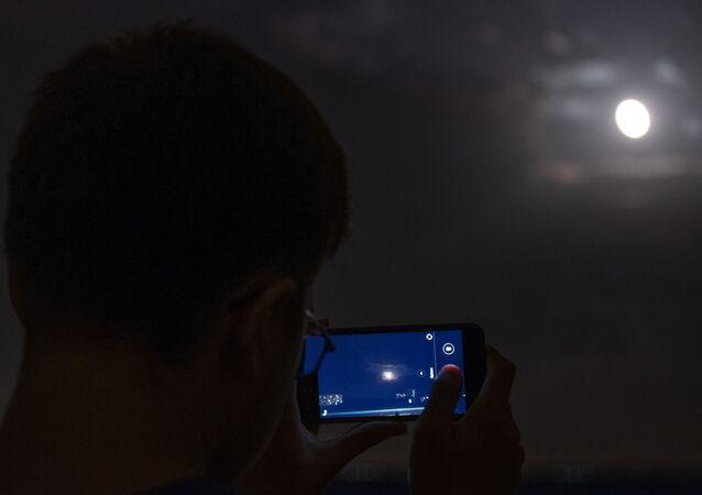 خسوف القمر في كوبان الروسية، 27 يوليو/ تموز 2018