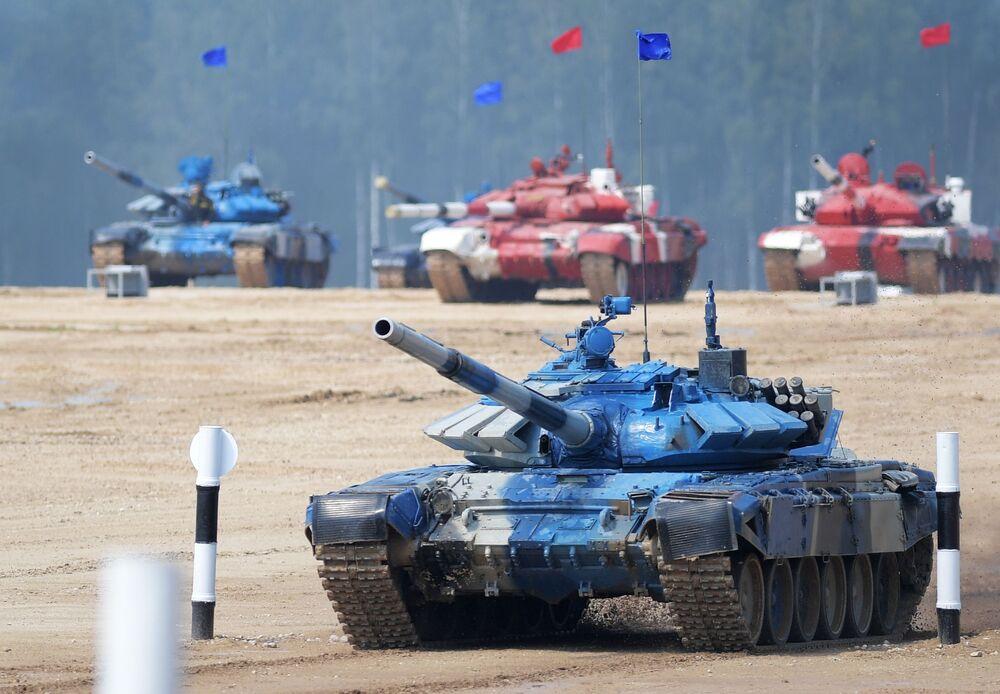 مسابقة بياتلون الدبابات - 2018 في حقل ألابينو العسكري