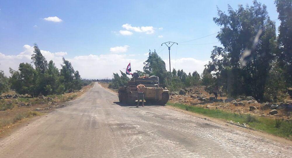 الجيش السوري يطهر قرى حوض اليرموك ويحاصر داعش ببلدتي بيت آره و عابدين