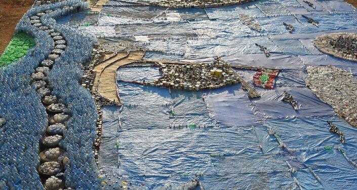لبنان يحطم الرقم القياسي للنمسا ويدخل موسوعة غينيس بأكبر فسيفساء مصنوعة من النفايات