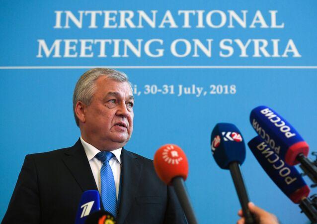 المبعوث الخاص للرئيس الروسي إلى سوريا خلال محادثات أستانا 10