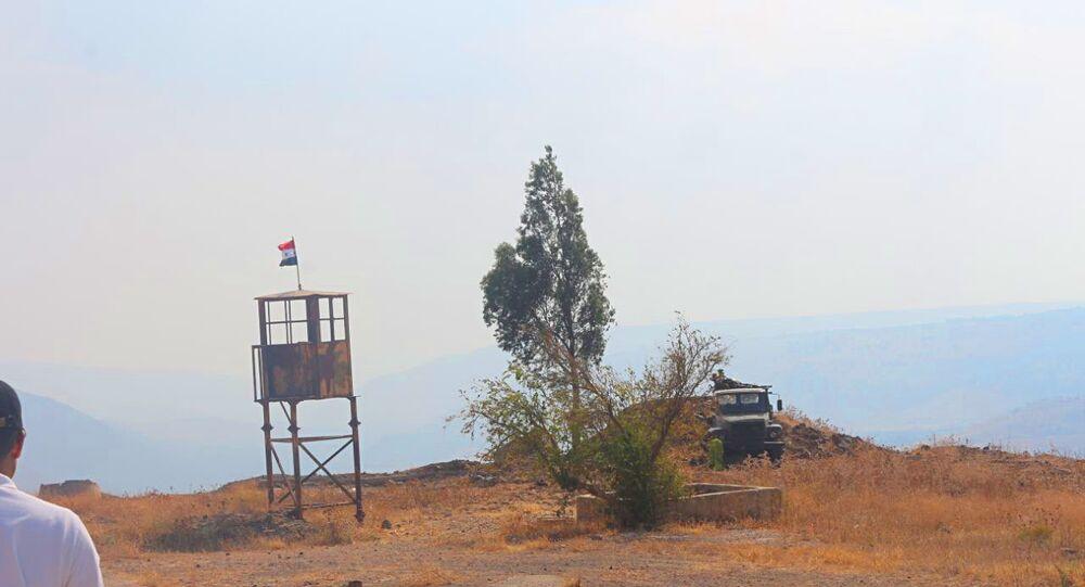 نقطة الجزيرة آخر النقاط السورية قرب بلدة معريا المقابلة للأراضي المحتلة في الجولان من الغرب والأراضي الأردنية جنوبا