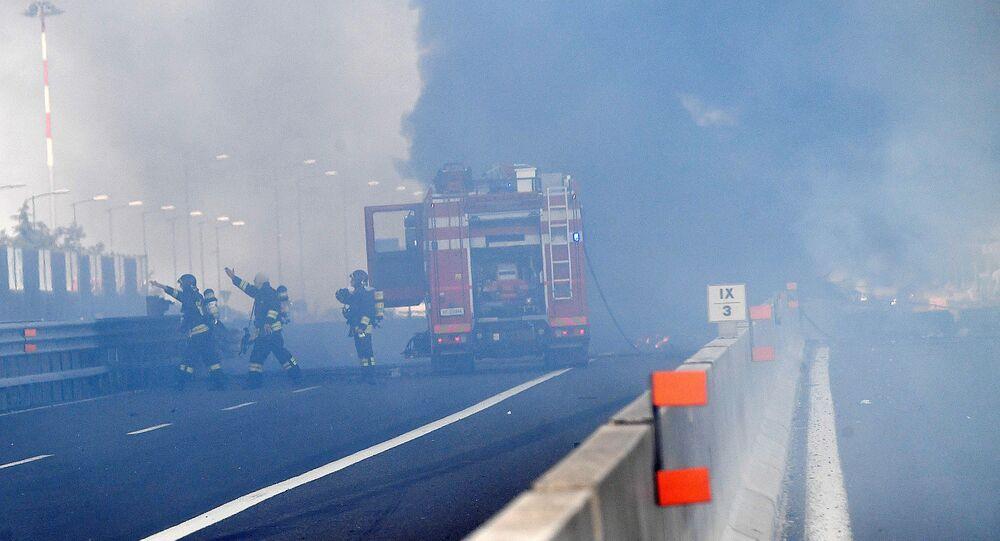 انفجار ناقلة وقود قرب مدينة بولونيا الإيطالية، 6 أغسطس/آب 2018