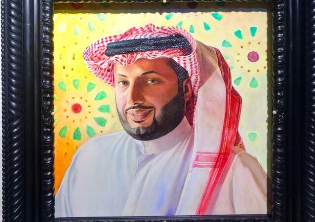 ما قصة اللوحة التي اهديت لتركي آل شيخ في روسيا
