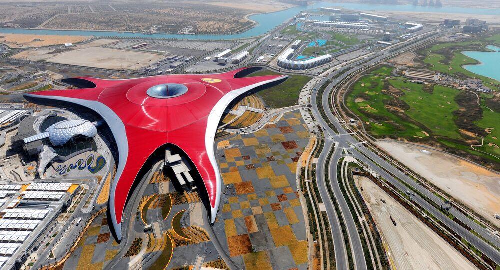 مدينة الملاهي Ferrari World في أبو ظبي، الإمارات العربية المتحدة