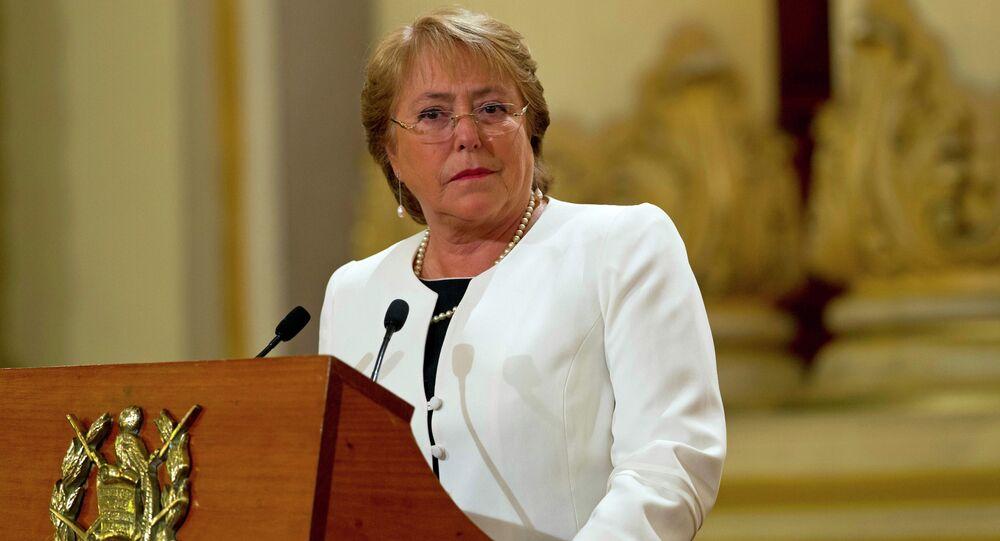 رئيسة تشيلي السابقة ميشيل باشيليت