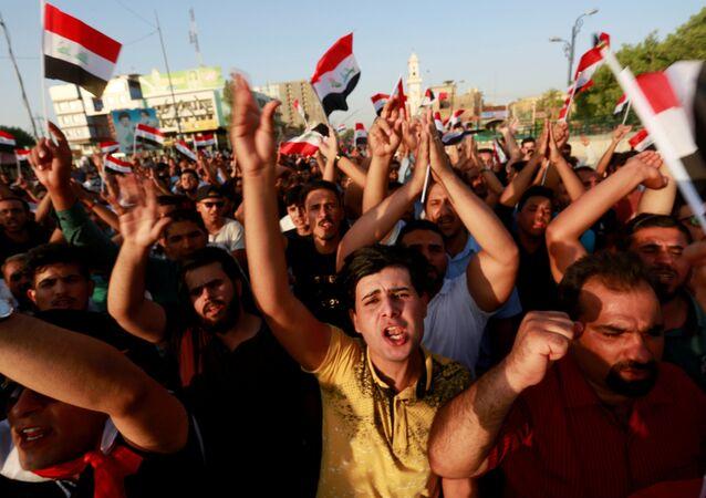 احتجاجات في النجف، العراق 27 يوليو/ تموز  2018