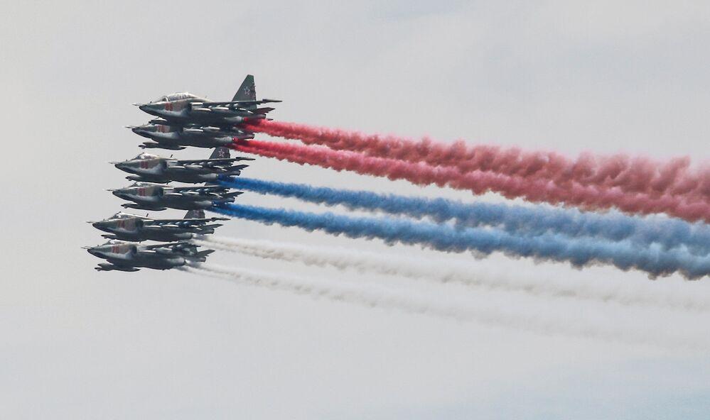 سو-25 في مسابقة  أفيدارتس في إطار مسابقة الألعاب العسكرية الدولية أرمي -2018  (الجيش - 2018) في ريازان الروسية
