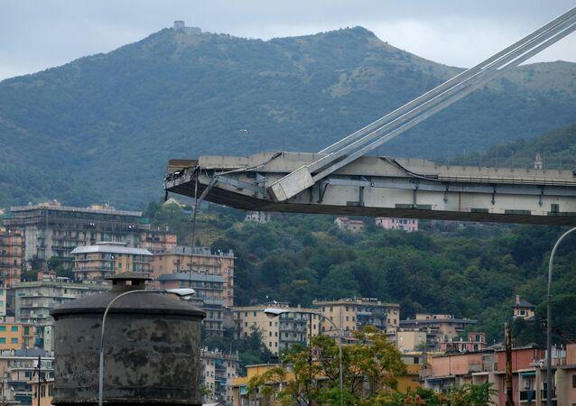 انهيار جسر في جنوة، إيطاليا 14 أغسطس/ آب 2018