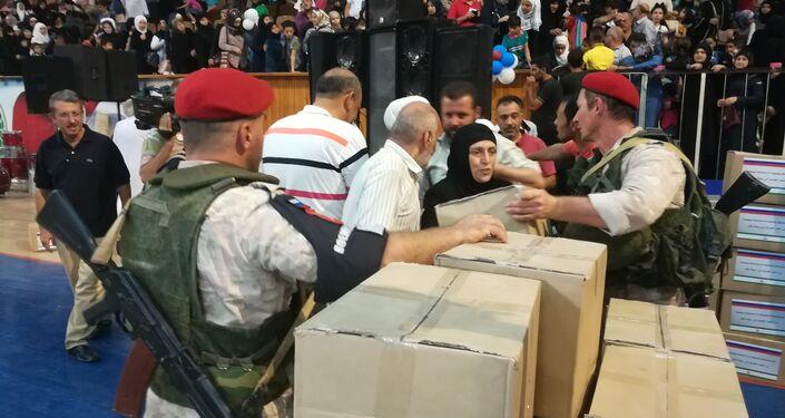 مساعدات أنغوشية لألف عائلة حلبية