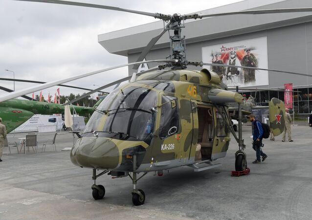 افتتاح منتدى آرميا 2018 (الجيش 2018 العسكري الدولي الرابع في كوبينكا بضواحي موسكو - المروحية الروسية كا-226