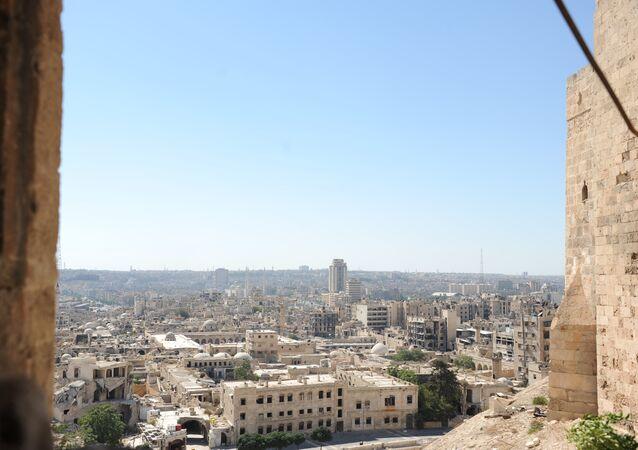 مشهد يطل على مدينة حلب