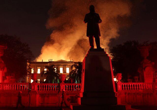 حريق متحف ريو دي جانيرو