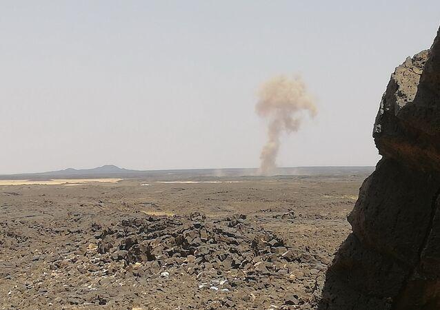 الراجمات السورية تدمر تحصينات داعش الأخيرة في عمق الجرف الصخري بتلول الصفا
