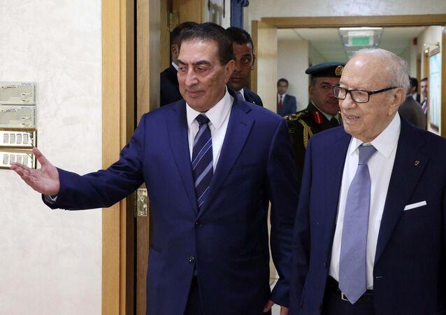 رئيس مجلس النواب الأردني عاطف الطراونة مع الرئيس التونسي