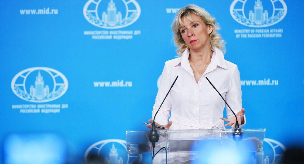 المتحدثة الرسمية باسم وزارة الخارجية الروسية ماريا زاخاروفا