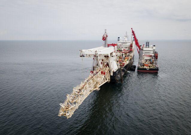 بدأ تركيب خط أنابيب الغاز التيار الشمالي -2 في فنلندا