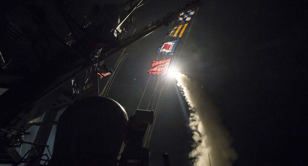 إطلاق صاروخ توماهوك الأمريكي